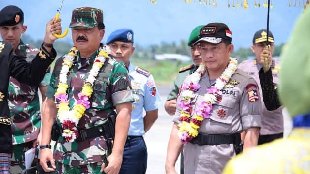 Saat Hadi dan Tito Makan Bareng Anggota TNI-Polri di Aceh