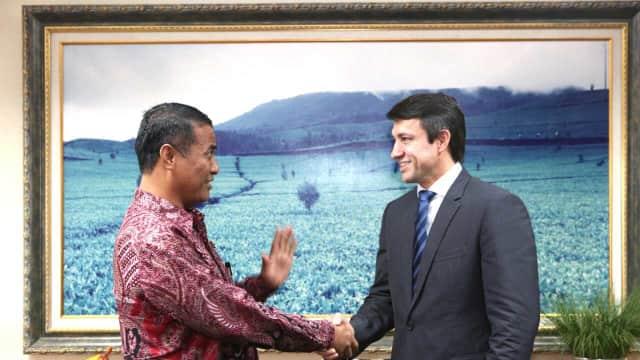 Menteri Pertanian RI Menerima Kunjungan Wakil Menteri Pertanian Brasil