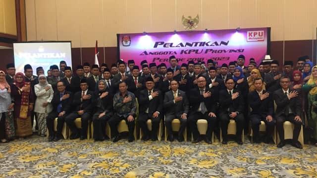 KPU Lantik 86 Pengurus Baru dari 16 Provinsi