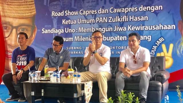 Ditemani Sandi, Zulhas Instruksikan Kader PAN Jabar Menangkan Prabowo
