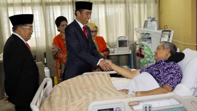 Jokowi Ajak Rakyat Indonesia Berdoa untuk Kesembuhan SBY