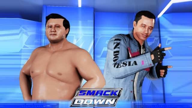 Ketika 'Jokowi' dan 'Prabowo' Bertarung di Game SmackDown