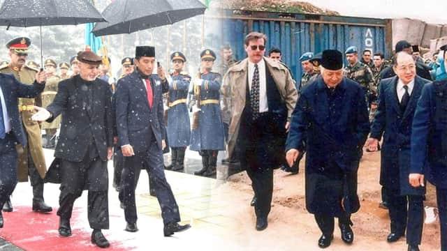 Membandingkan Kunjungan Jokowi dan Soeharto ke Negara Konflik