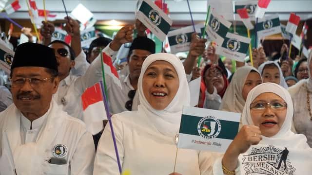 Bersama Khofifah, JKSN Deklarasi Pemenangan Jokowi-Ma'ruf di Malaysia