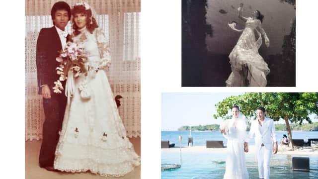 Nadine Chandrawinata Gunakan Gaun Pengantin Warisan Sang Ibu