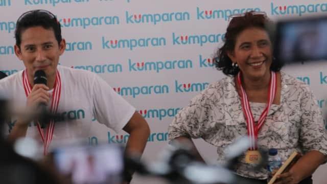 Susi Tetap Ajak Sandi ke Wakatobi Meski Kalah di Festival Danau Sunter