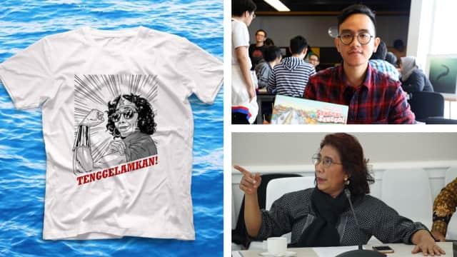 Gibran Bikin Kaos 'Tenggelamkan!', Susi Pudjiastuti Ikut Promosi