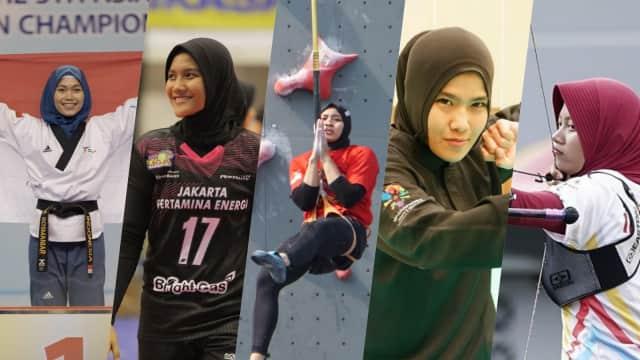 Mengenal 5 Atlet Berhijab Indonesia di Asian Games 2018