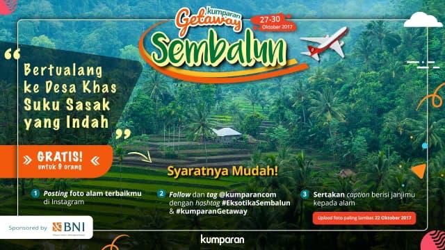 Yuk Ikutan kumparan Getaway Sembalun, Gratis!