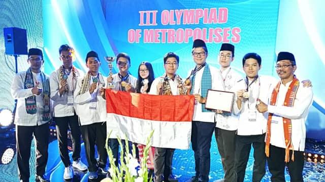 Tim Pelajar DKI Jakarta Juara Dua Olimpiade Metropolis di Moskow