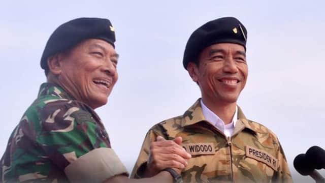 Moeldoko Temani Jokowi di Forum Relawan Ulama Muda, Sinyal Cawapres?