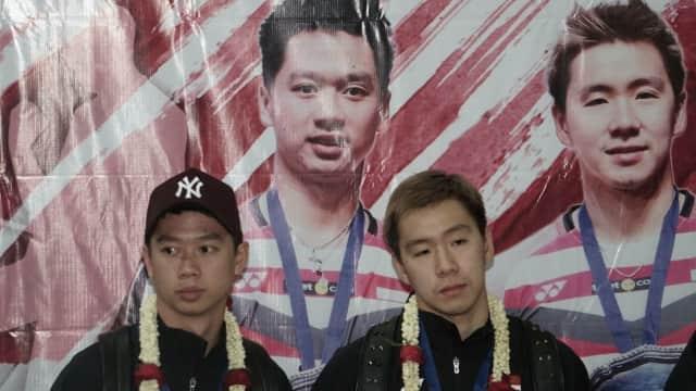 Marcus dan Kevin Temui Jokowi di Istana Merdeka