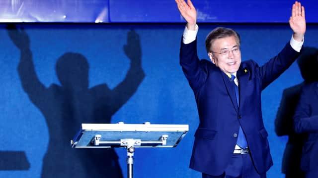 Moon Jae-in Unggul Menjadi Presiden Korsel Versi Quick Count