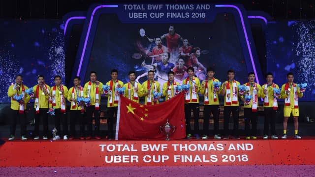 Kalahkan Jepang, China Juara Piala Thomas untuk Ke-10 Kali