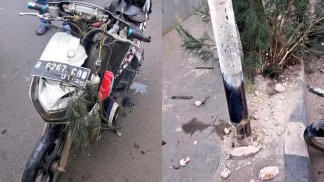 Tabrak Tiang Telepon di Daan Mogot, Pesepeda Motor Tewas