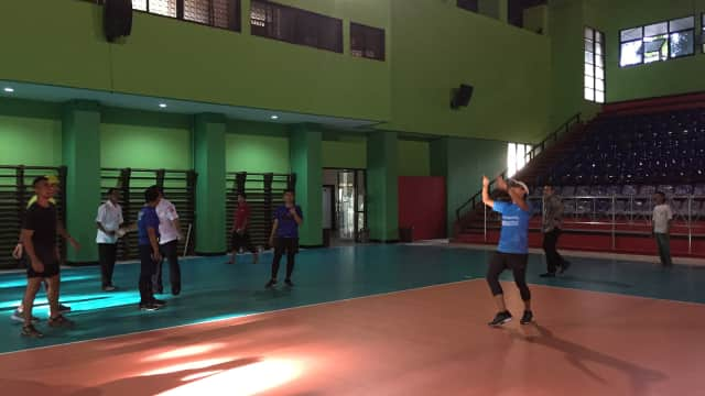 Pengerjaan GOR Bulungan Jaksel Dikebut Sebelum Asian Games