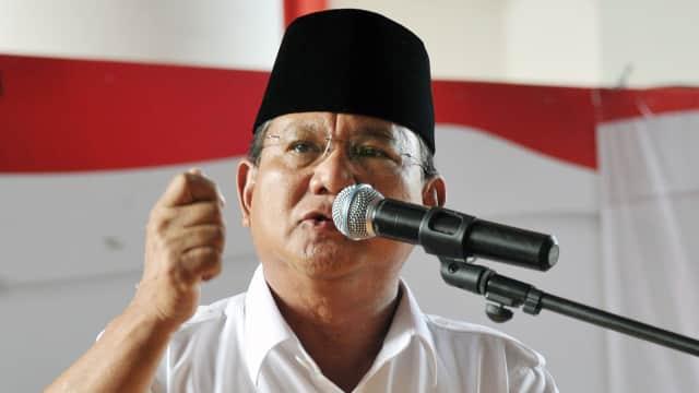 Prabowo: RI Sedang Sakit, Ada Elite yang Suka Menipu Bangsa Sendiri