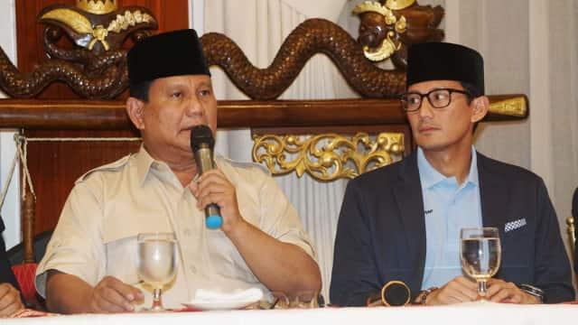 Sandi: Pak Prabowo Usia 67, Jiwanya Masih Kayak Sweet 17