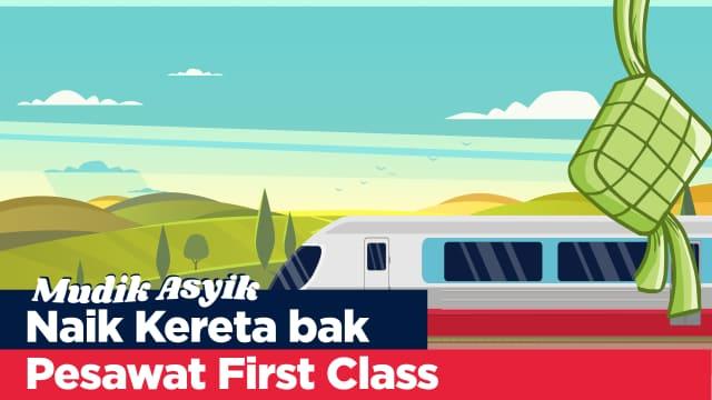 Infografik: Gerbong Kereta Serasa Pesawat First Class