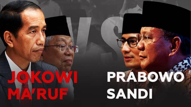 Hasil Survei Internal: Prabowo-Sandi vs Jokowi-Ma'ruf Bersaing Ketat