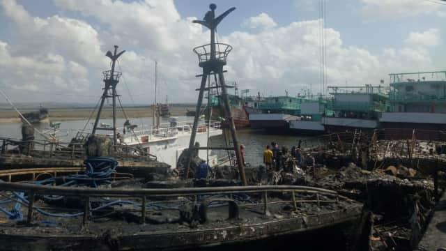 KKP Masih Selidiki Penyebab Kebakaran Kapal Ikan di Pelabuhan Benoa