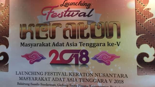 Festival Keraton dan Masyarakat Adat ASEAN ke-5 Siap Digelar
