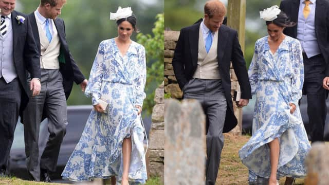 Meghan Markle Pakai Dress Rp 77 Juta di Pernikahan Ponakan Putri Diana