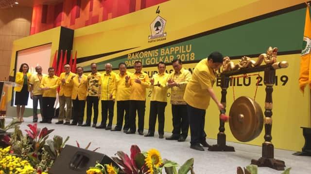 Airlangga Buka Rakornis Bappilu Golkar: Kencangkan Kampanye di 2019