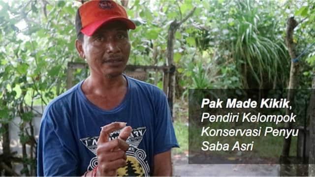 Kisah Mantan Pejudi yang Kini Jadi Penyelamat Penyu di Bali