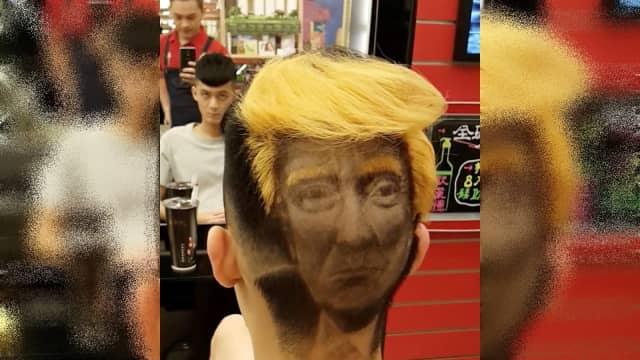 Tukang Cukur di Taiwan Siap Pasang Wajah Trump di Rambut Pelanggannya