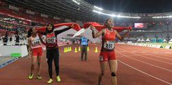 Indonesia Rebut 3 Medali Sekaligus di Nomor Lari 100 Meter Putri