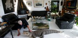 Seorang Pria Perancis Hidup Bersama 400 Reptil