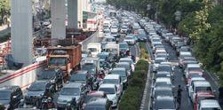 Demo Driver GrabCar Lumpuhkan Kuningan, Jakarta Selatan