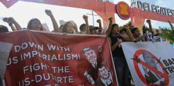 Aksi Protes Tolak Kedatangan Donald Trump di Manila