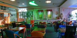 Romantisme Santorini Cafe di Chuncheon, Korea Selatan