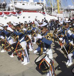 Atraksi Drum Band Taruna AAL di Spanyol