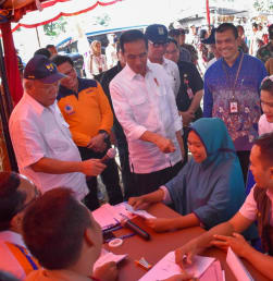 Jokowi Kembali Menyapa Warga Lombok Korban Gempa