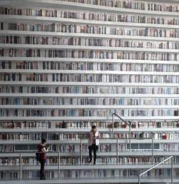 Megahnya Perpustakaan Binhai Tianjin di China